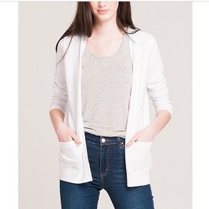 Kersh white cardigan with pockets